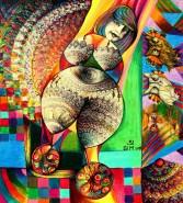 Picturi abstracte/ moderne Femeia rulanta