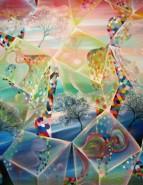 Picturi abstracte/ moderne Primavara cristalizata 130.8x100