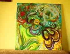 Picturi abstracte/ moderne Simfonia primaverii