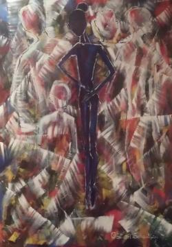 Picturi abstracte/ moderne Subway ballerina