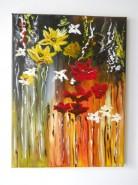 Picturi abstracte/ moderne Flori curgatoare