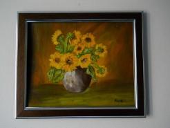 Picturi abstracte/ moderne Vas cu flori