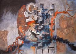 Picturi abstracte/ moderne lupta dintre bine si rau