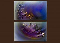 Picturi abstracte/ moderne AQUAMARIN 3