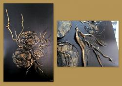 Picturi abstracte/ moderne GOLDEN ROSES 12