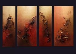 Picturi abstracte/ moderne METALLIC FLOWER