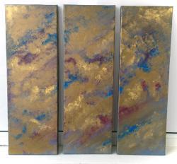 Picturi abstracte/ moderne nori aurii
