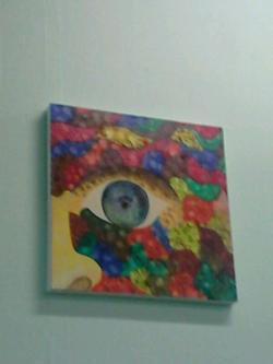 Picturi abstracte/ moderne fata dintre culori