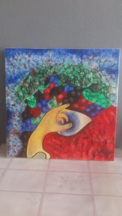 Picturi abstracte/ moderne mana care te atinge