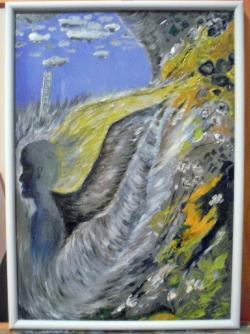 Picturi surrealism Angel blue