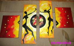 Picturi abstracte/ moderne Dansul pamantului
