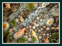 Picturi acuarela Pesti in apa