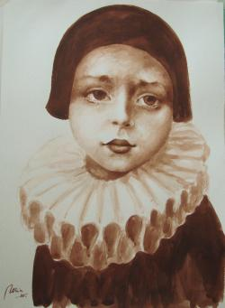 Picturi acuarela arlechin desen tus