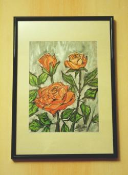 Picturi acuarela trandafiri