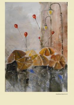Picturi acuarela Ploaia
