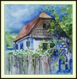 Picturi acuarela Casa la Vaidacuta
