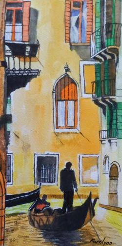 Picturi acuarela Gondolier