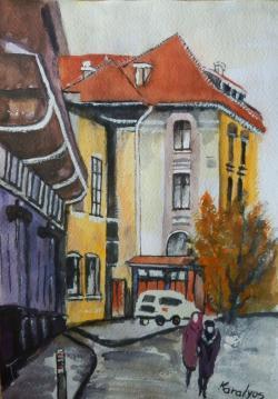 Picturi acuarela In oras
