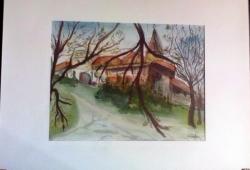 Picturi acuarela Cetatea Brasov