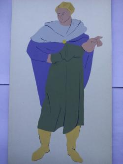 Picturi acuarela Costume Antice 2 Galo-romani,celti