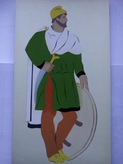 Picturi acuarela Dacians Warrior