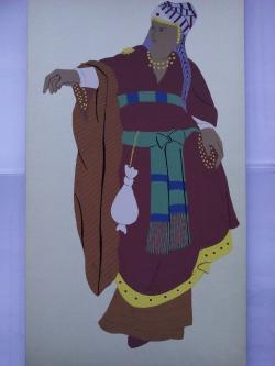 Picturi acuarela The Jews Saleswoman
