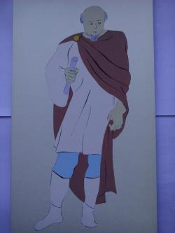 Picturi acuarela The Romans Tribune
