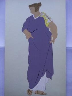 Picturi acuarela The Romans Woman
