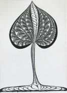 Picturi alb negru Copac 1