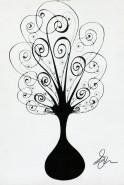 Picturi alb negru Copac 10