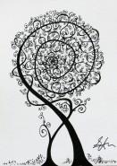 Picturi alb negru Copac 3