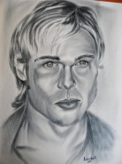 Picturi alb negru Brad pitt