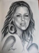Picturi alb negru Chip de fata