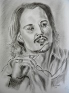 Picturi alb negru Johnny depp
