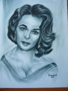 Picturi alb negru Liz taylor