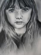 Picturi alb negru Portret de fata
