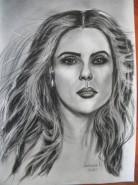 Picturi alb negru Salma hayek