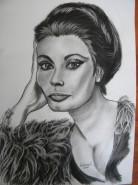 Picturi alb negru Sophia loren