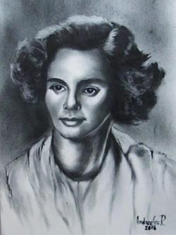 Picturi alb negru TINERETEA REGINEI