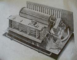 Picturi alb negru detaliu interior radiator