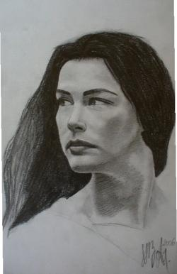 Picturi alb negru Liv Tyler