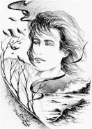 Picturi alb negru Eminescu-adiere