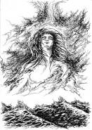 Picturi alb negru Eminescu-luceafarul
