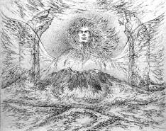 Picturi alb negru Eminescu-porni luceafarul