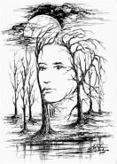 Picturi alb negru Eminescu-suflet ascuns