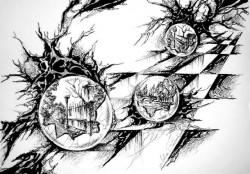 Picturi alb negru Misterul sferelor