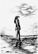 Picturi alb negru Serenitate
