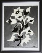 Picturi alb negru Floare