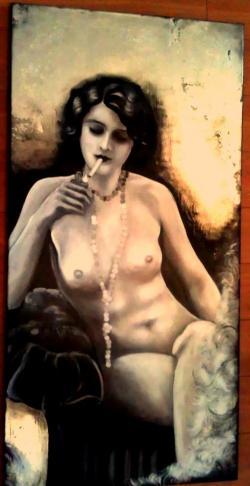 Picturi alb negru Boudoir