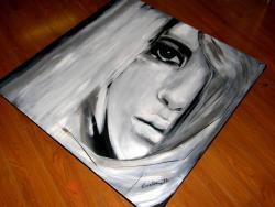 Picturi cu potrete/nuduri portret- alb negru